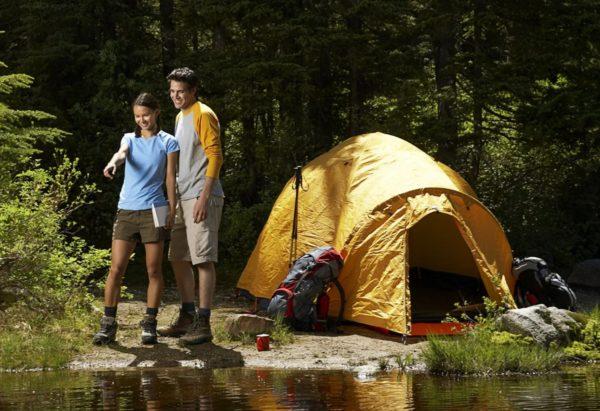 На природе с палаткой