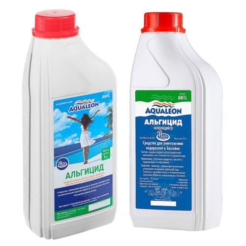 Aqualeon-Альгицид непенящийся – средство для уничтожения водорослей в бассейне, 5 л