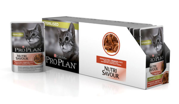 Pro Plan Nutri Savour с говядиной