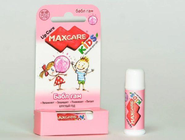 MaxCare Kids Детский бальзам для губ бабл гам