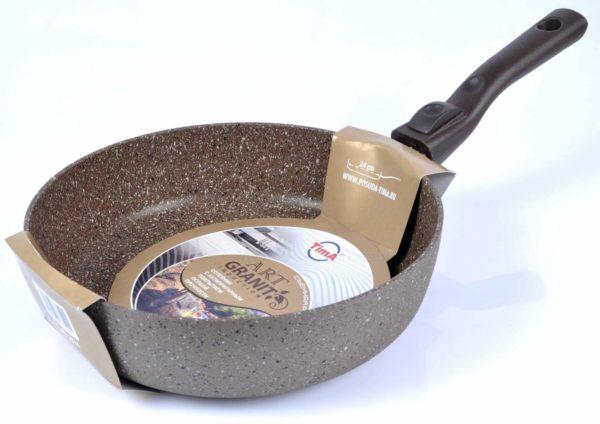 Сковорода TimA Art granit induction AТI-1024 24 см съемная ручка