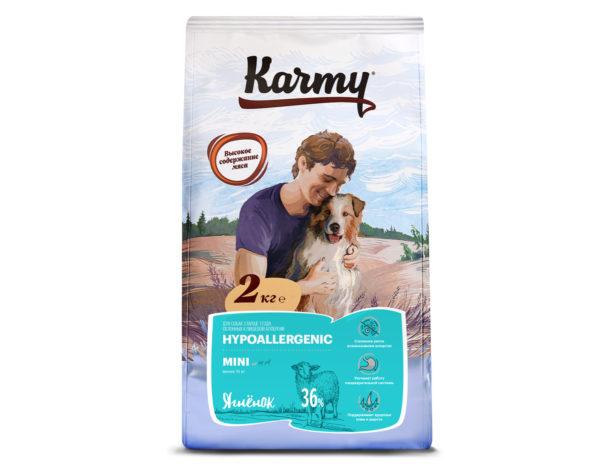 Karmy для здоровья кожи и шерсти при аллергии с ягненком (для мелких пород)