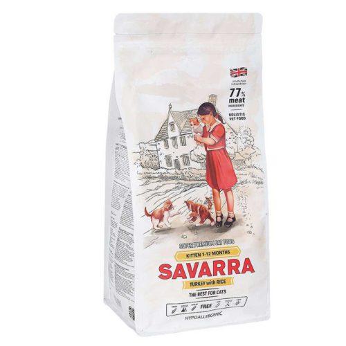 Сухой корм для котят SAVARRA Kitten Индейка и рис