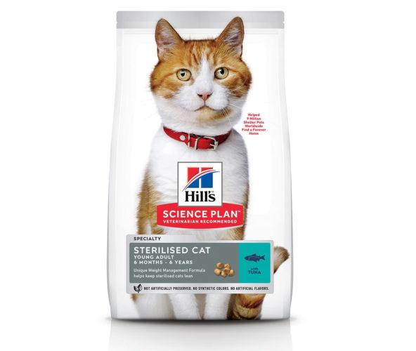Hill's-Science-Plan-для-молодых-стерилизованных-кошек-и-кастрированных-котов-с-тунцом