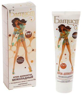 Батист Крем-депилятор Шоколадный для темных и жестких волос