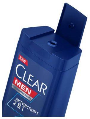 Clear шампунь 2 в 1 против перхоти Активспорт