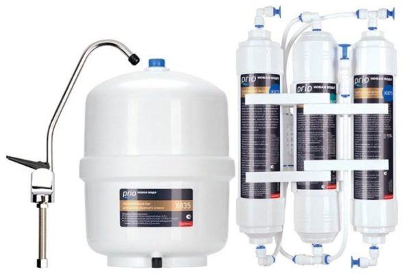 Prio Новая Вода Econic Osmos O300 трехступенчатый