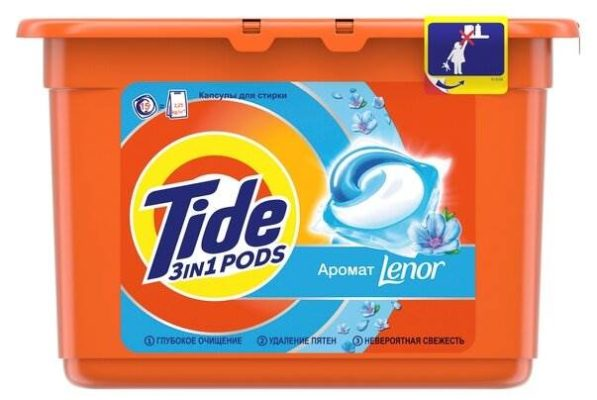 Tide капсулы Go Pods автомат Lenor