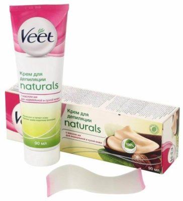 Veet Крем для депиляции Naturals с маслом ши