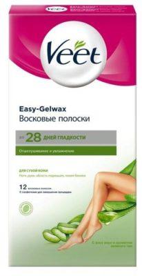 Veet Восковые полоски Easy Gelwax для сухой кожи