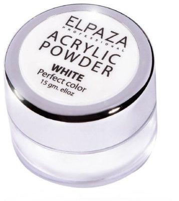 Акриловая пудра Elpaza Acrylic Powder White, 15 гр.
