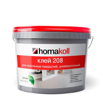 Клей Homakoll 208 (7 кг) универсальный для напольных покрытий из ПВХ и текстиля, морозостойкий