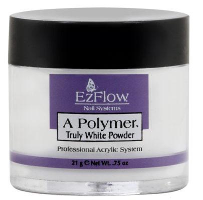 Ярко-белая акриловая пудра (A-Polymer - Truly White Acrylic Powder) 13141 21 г (EzFlow)