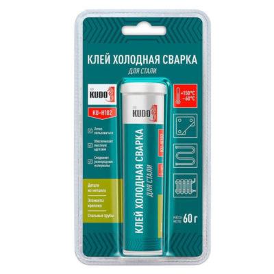 Клей-KUDO-Холодная-сварка,-для-изделий-из-стали,-от--60-до-+150-гр