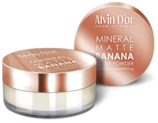 Alvin D'or Рассыпчатая банановая пудра Mineral Banana Matte Loose Powder