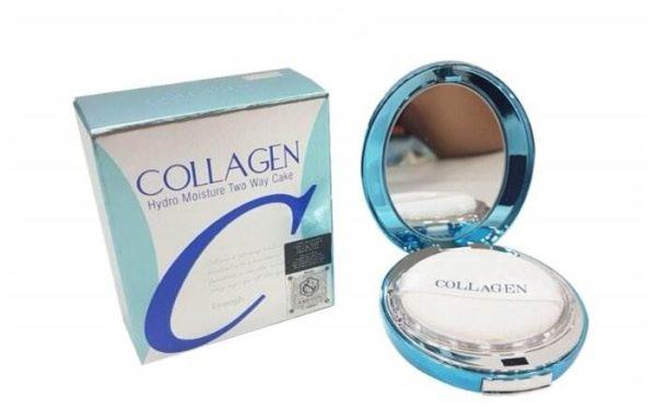 Enough Пудра компактная с коллагеном увлажняющая Collagen Hydro Moisture Two Way Cake SPF25 PA++