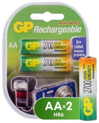 Ni-Mh 2700 мА·ч GP Rechargeable 2700 Series AA