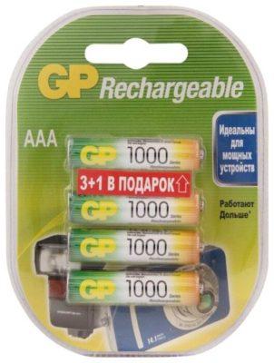Ni-Mh 950 мА·ч GP Rechargeable 1000 Series AAA