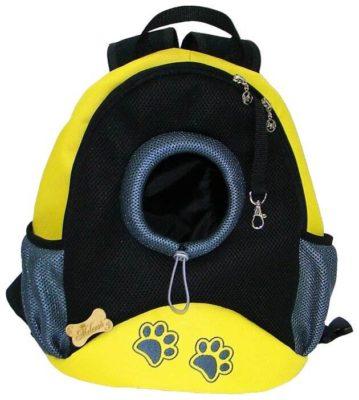 Рюкзак-переноска для кошек и собак Melenni Стандарт Лапы S 30х15х35 см