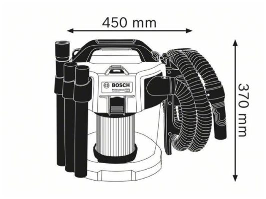 BOSCH GAS 18V-10 L Professional