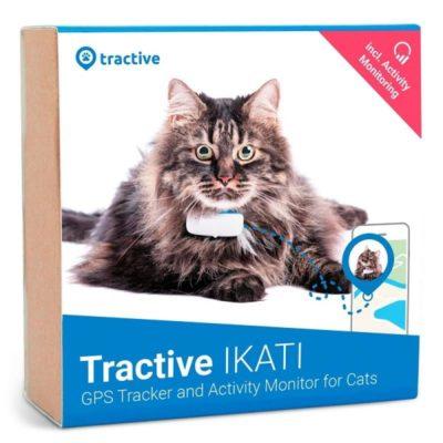 Tractive IKATI - GPS-трекер для кошек (белый_синий)