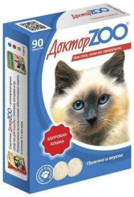 Доктор ZOO для кошек Здоровая кошка с морскими водорослями