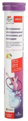 Доппельгерц актив витамин-минеральный комплекс таб. шип. д/женщин №15 со вкусом лимона