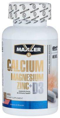 Maxler Calcium Magnesium Zinc + D3 (90 таблеток)