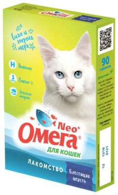 Омега Neo + Блестящая шерсть для кошек