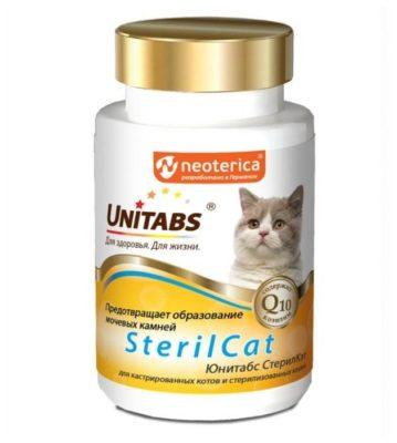 Unitabs SterilCat для кастрированных котов и стерилизованных кошек таблетки