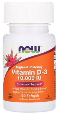 Vitamin D-3 капс. 10000 МЕ №120