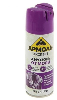 Аэрозоль Армоль Эксперт от моли без запаха