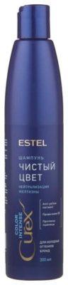 ESTEL Curex Color Intense шампунь Чистый цвет нейтрализация желтизны для холодных оттенков блонд