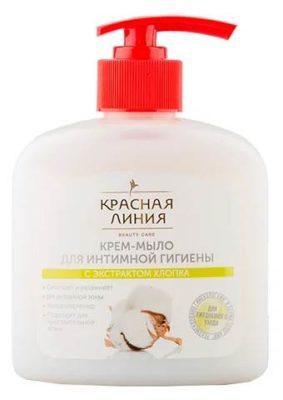 Красная линия Крем-мыло для интимной гигиены с экстрактом хлопка, 250 мл
