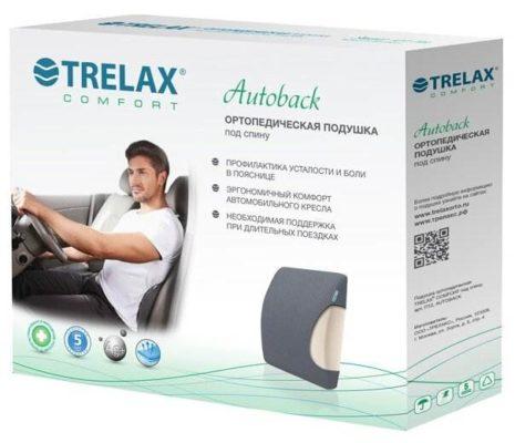 Подушка TRELAX ортопедическая под спину Autoback П12 25 х 29 см