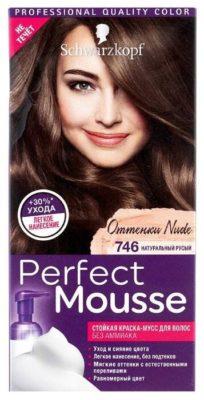 Schwarzkopf Perfect Mousse Стойкая краска-мусс для волос Nude