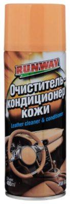 RUNWAY Очиститель и кондиционер кожи салона автомобиля RW6124, 0.4 л