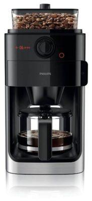 Philips HD7767 Grind & Brew, черный/металлик