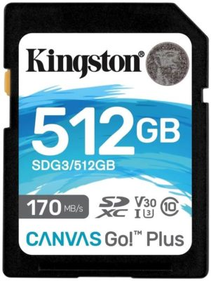 Kingston SDG3/128GB 128 ГБ, скорость чтения 170 МБ/с, скорость записи 90 МБ/с