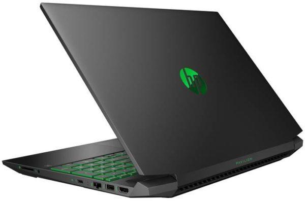 HP Pavilion 15-ec1057ur 22N66EA, темно-серый/зеленый хромированный логотип