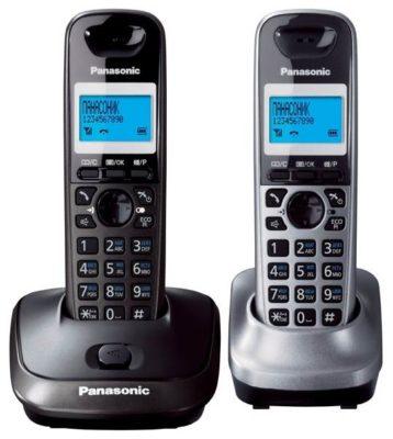 Panasonic KX-TG2512 темно-серый металлик/серый металлик