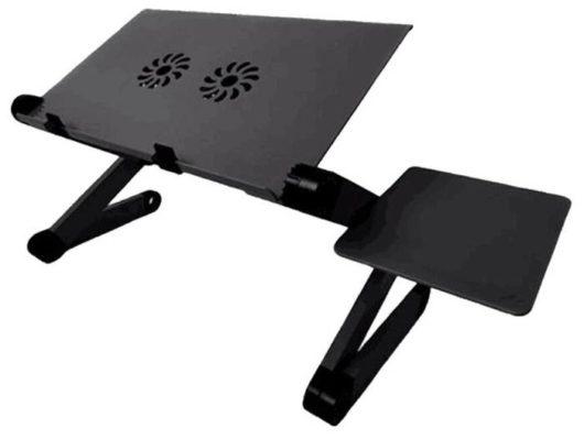 Стол-трансформер для ноутбука с регулировкой ножек, охлаждением и подставкой для мышки