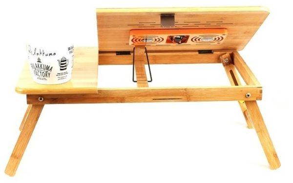 Столик для ноутбука Zitrek складной с охлаждением, из бамбука