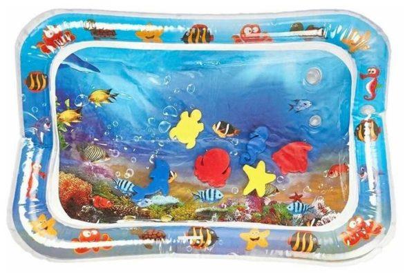 Детский развивающий коврик для ванны с рыбками