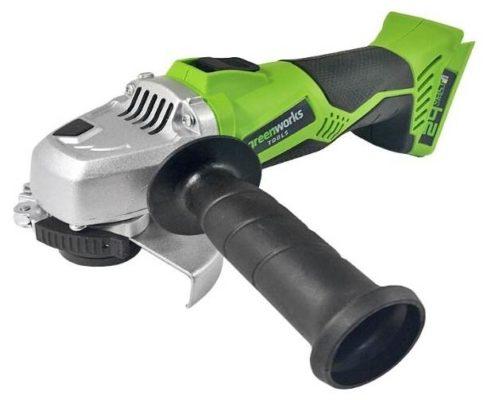 УШМ greenworks G24AG 0, 115 мм, без аккумулятора