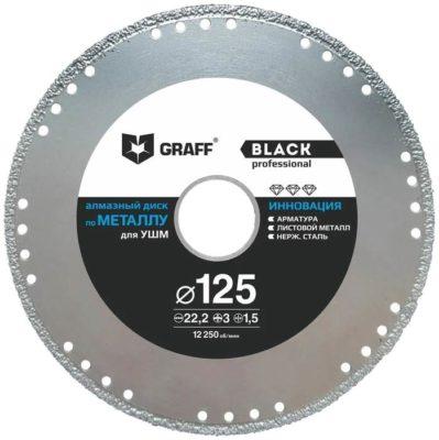 GRAFF Black GDDM125B, 125 мм 1 шт.