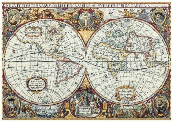 PANNA Набор для вышивания Географическая карта мира 66 x 46.5 см (PZ-1842)