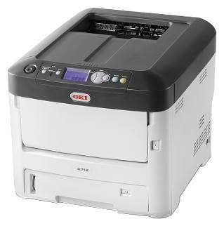 OKI C712dn, белый/серый
