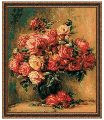 Риолис Набор для вышивания крестом Букет роз 40 x 48 (1402)