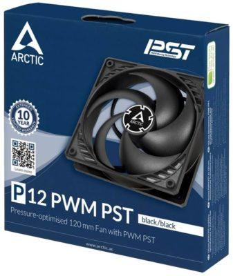 Arctic P12 PWM PST черный/прозрачный 1 шт.